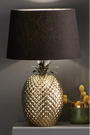 Donatella Gold Ceramic Pineapple Table Lamp by Pacific
