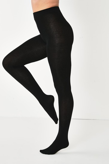 Black Knitted Tights Two Pack
