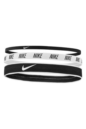 Nike Black Mix Headbands Three Pack
