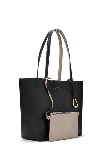Lauren Ralph Lauren Reversible Leather Tote Bag