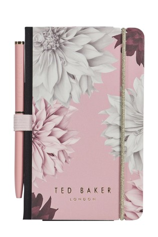 Ted Baker A7 Floral Notebook & Pen Set