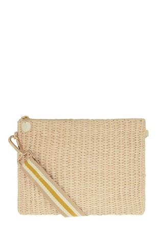 Accessorize Natural Stripe Cross Body Bag