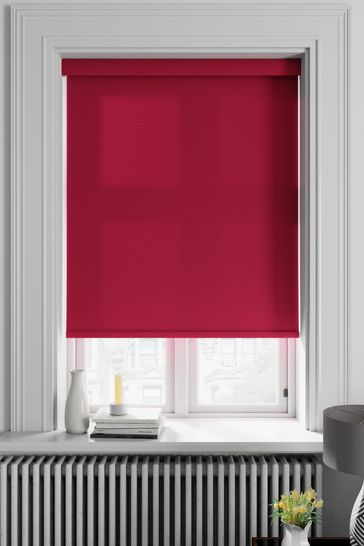 Asher Ruby Red Made To Measure Light Filtering Roller Blind