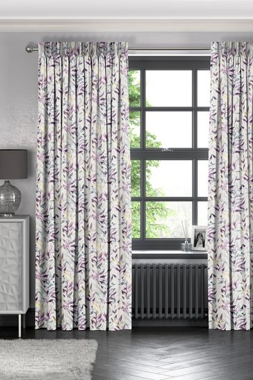 Asara Heather Purple Made To Measure Curtains