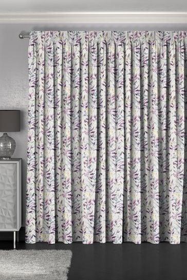 Asara Heather Purple Made To Measure Curtains