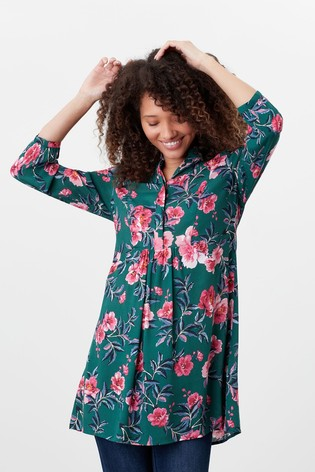 Joules Green Athena Pop Over Longline Top