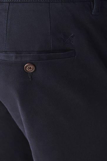Crew Clothing Company Blue Straight Chinos