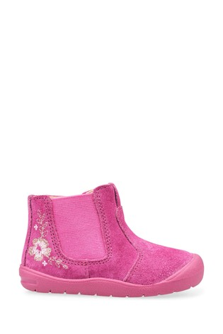Start-Rite Pink Glitter First Chelsea Shoes