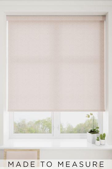 Squiggle Heather Pink Made To Measure Roller Blind