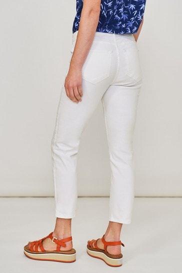 White Stuff White Straight Crop Jeans