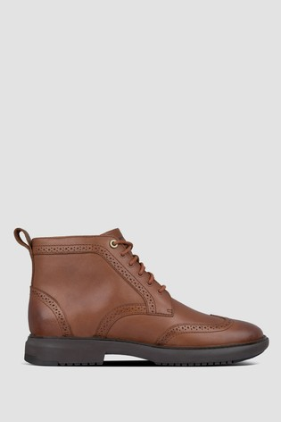 FitFlop™ Odyn Leather Brogue Boots
