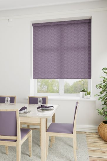 Squiggle African Violet Purple Made To Measure Roller Blind