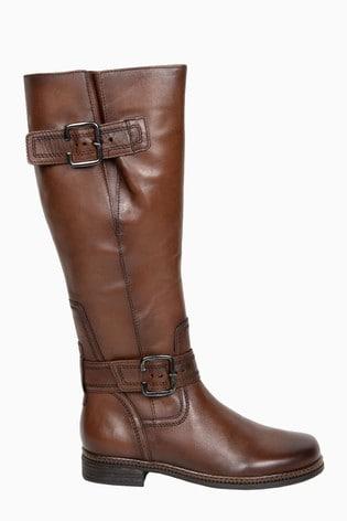Gabor Nevada Sattel Leather Knee Length Fashion Boots