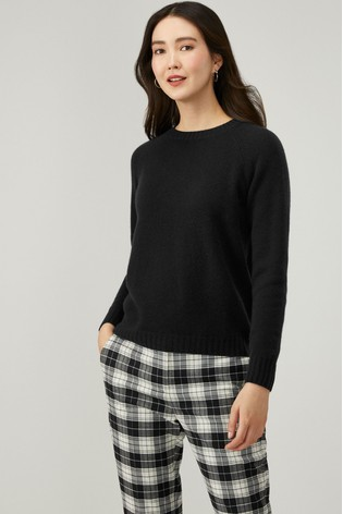 Pure Collection Black Cashmere Lofty Sweatshirt