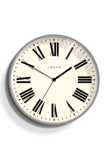 Jones Clocks Magazine Grey Wall Clock