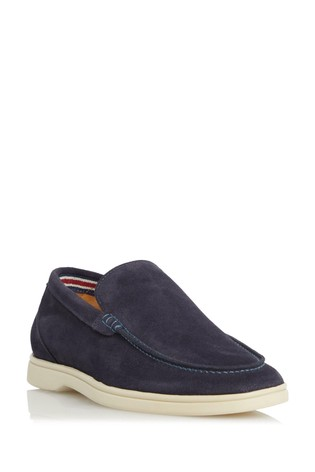 Dune London Blue Blend Casual Apron Loafers
