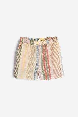 Rainbow Stripe Shorts Cotton Co-Ord (3-16yrs)