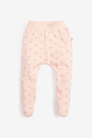 The Little Tailor Pink Rocking Horse Jersey Slouch Pants