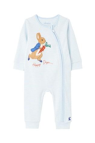 Joules Blue Peter Rabbit Winfield Cotton Artwork Babygrow