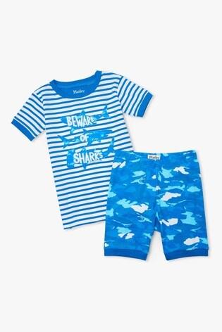 Hatley Shark Camo Organic Cotton Short Pyjama Set