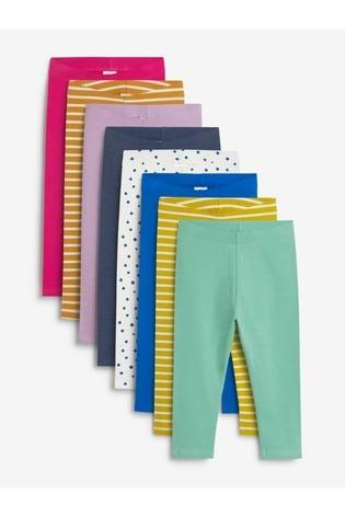 Multi Brights 8 Pack Cotton Leggings (3mths-7yrs)