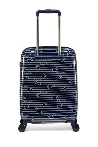 Radley Dog Stripe Small Hard Shell Suitcase