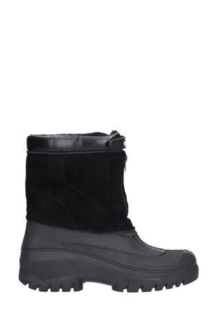 Cotswold Black Venture Waterproof Winter Boots