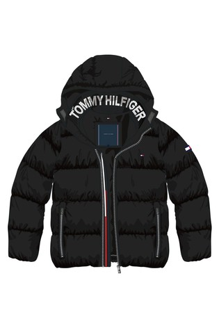 Tommy Hilfiger Black Essential Down Jacket