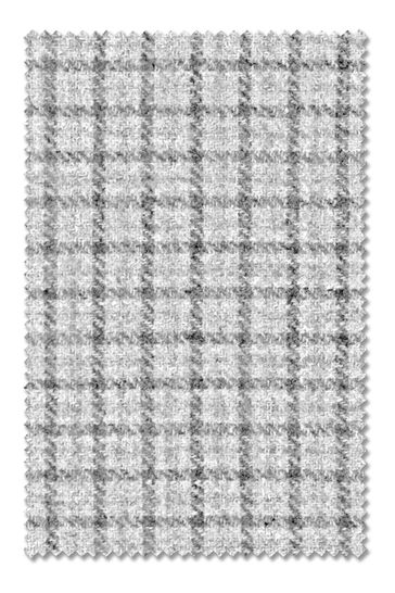 Herringbone Check Grey Made To Measure Roman Blind