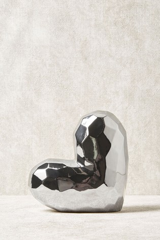 Faceted Heart Sculpture