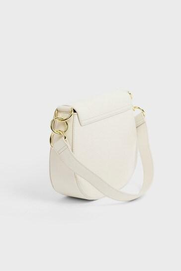 Ted Baker Cream Amali Branded Webbing Strap Cross-Body Bag