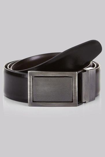 Moss 1851 Black/Brown 4-In-1 Bonded Leather Reversible Belt
