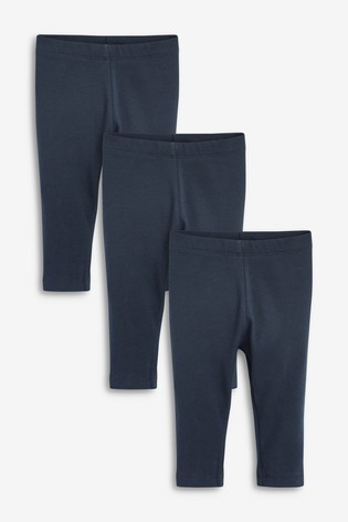 Navy 3 Pack Basic Leggings (3mths-7yrs)
