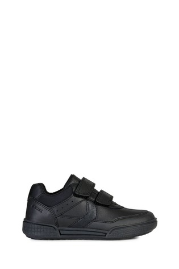 Geox Junior Boy/Unisex Poseido Black Velcro Trainers