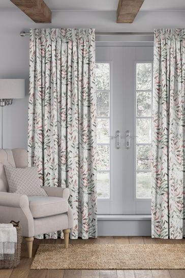 Asara Rose Green Made To Measure Curtains