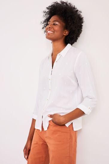 White Stuff Ivory Emma Organic Cotton Shirt