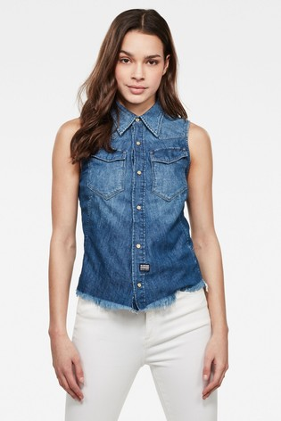 G-Star Blue Tacoma Slim Shirt
