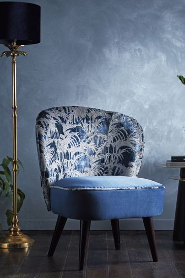 Tropicale Midnight Ascot Chair by Clarke & Clarke