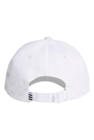 adidas Adult White 3 Stripe Cap