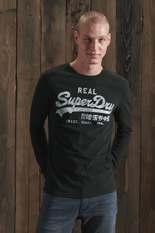 Superdry Vintage Logo Infill Long Sleeve Top