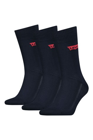 Levi's® Unisex Batwing Logo Regular Cut Socks Three Pack