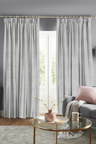 Laura Ashley Silver Whinfell Made to Measure Curtains