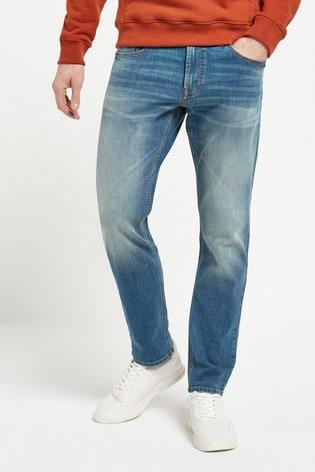 Bright Blue Slim Fit Motion Flex Stretch Jeans