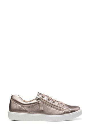 Hotter Chase Wide Fit Lace-Up/Zip Deck Shoes