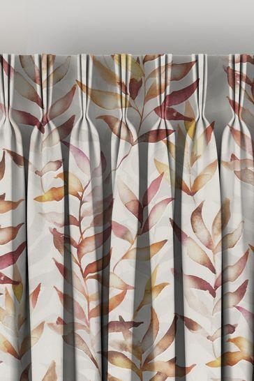 Asara Coral Orange Made To Measure Curtains