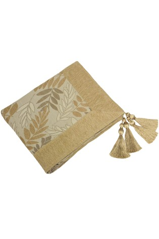 Fern Floral Tassel Throw by Riva Home