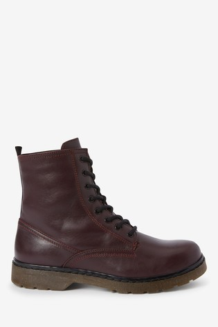 Berry Emma Willis Leather Lace-Up Boots