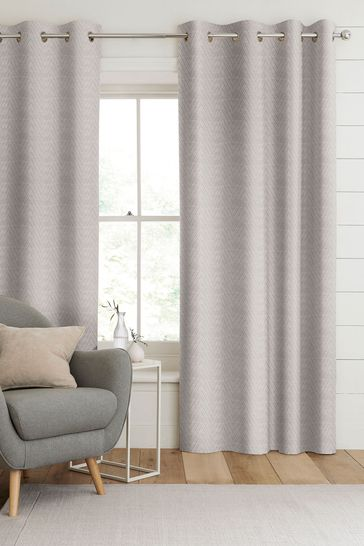 Pewter Natural Aria Made To Measure Curtains