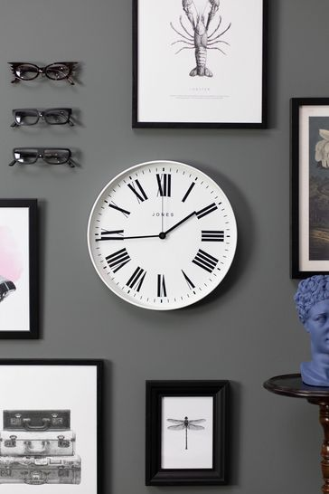 Jones Clocks Magazine White Wall Clock
