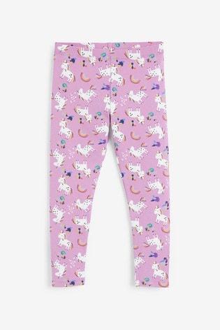 Pink Unicorn Print Leggings (3-16yrs)